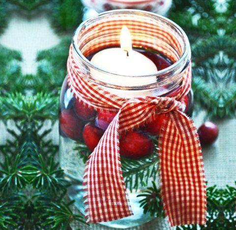 Selecionamos 25 ideias de decoração de mesas de Natal com velas: é simples, econômico e muito bonito.
