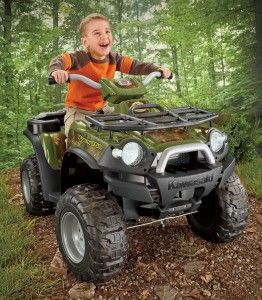when it comes to gifts for boys nothing beats this battery powered kawasaki brute