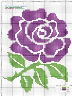 Rose Free Cross Stitch Pattern Chart