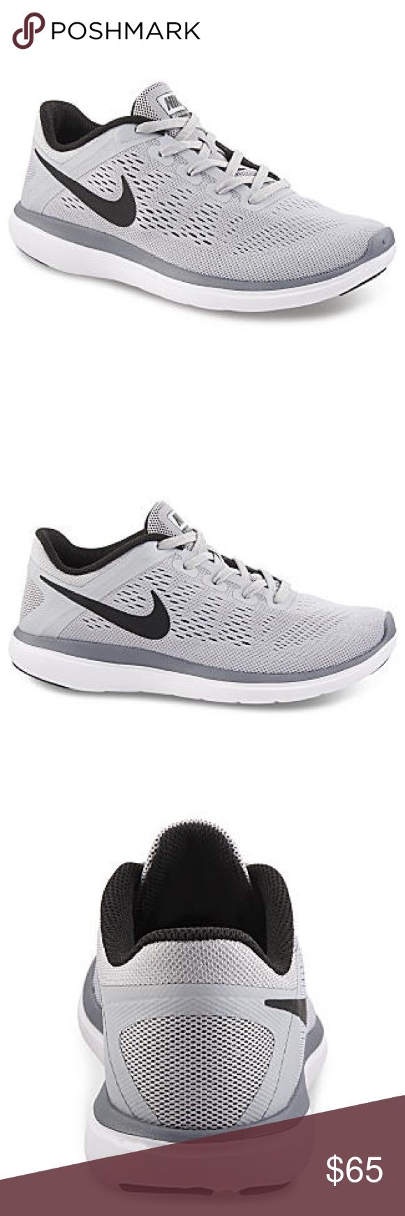Nike women's running shoes size 7.5 grey black new Brand new without box. Size 6 youth which is a women's size 7.5. I have added a sizing chart for your Convenience.     Nike Flex 2016 Run Running Shoe  Flexibility and breathable comfort combine to create the Flex 2016 Run boys' running shoe by Nike. Breathe Tech construction fuses foam and mesh to keep things light, while the outsole's flex grooves help the foot move the way it was meant to. A pressure-mapped Phylon® midsole provides…