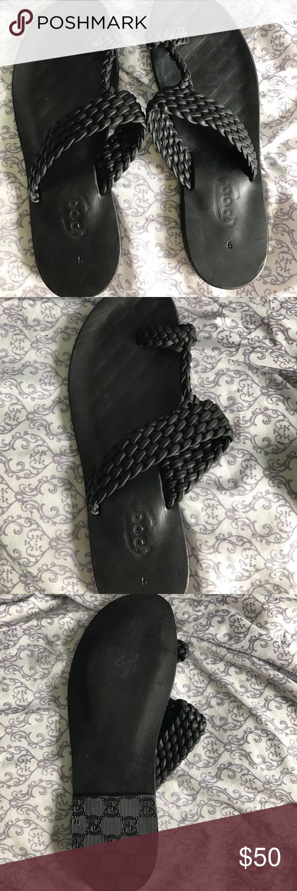 African men's leather slippers Leather slippers Shoes
