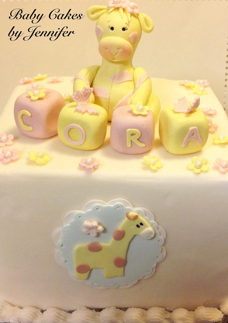 Baby Boy Shower Cakes | ... baby shower fondant letter blocks first birthday baby girl or boy