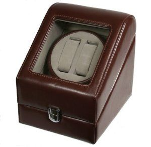 "TOP QUALITY LEATHER AUTOMATIC DOUBLE WATCH WINDER BOX PI-BRN Kendal. $59.95. 5 modes of fuzzy-logic computer controlled winding ensures that your watches will be fully wound up and ready to wear anytime, everyday.. Winding of up to 2 watches simultaneously, providing maximum flexibility and versatility. Computer controlled timer permits flawless winding of all automatic timepieces.. Dimension: 8-3/4"" (L) x 7"" (W) x 8-1/2"" (H). Weight: 2 lbs 3 Oz. Rotating base allows easy ac..."