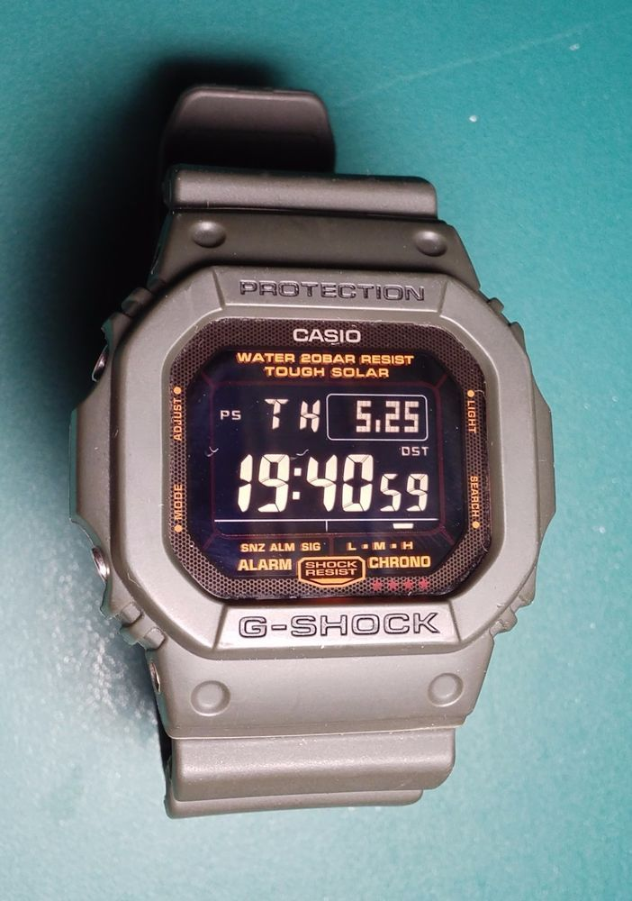 Casio G-Shock Solar Military Olive Green G5600KG-3 RARE CLEAN! #GSHOCK #Military