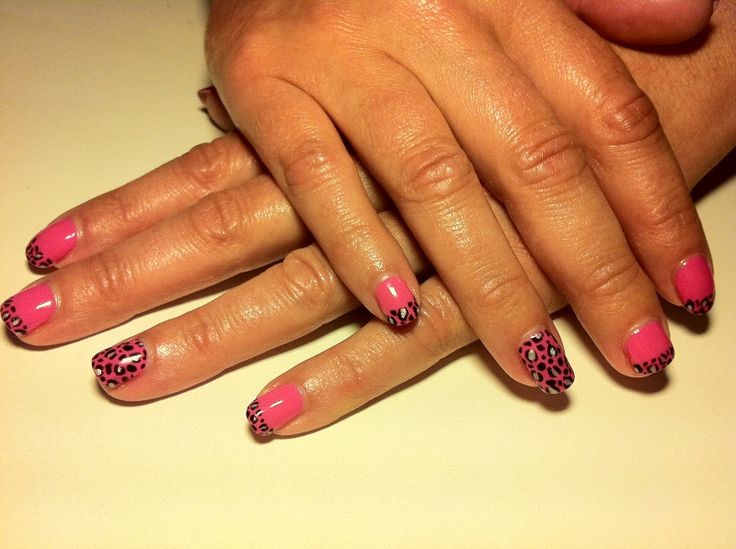 116 best cnd shellac images on pinterest blush brushes and cnd cnd shellac nail art hot pop pink with handpainted blackpool and silver chrome leopard print prinsesfo Images