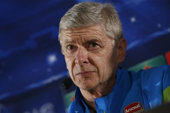 Arsenal's French coach Arsene Wenger holds a press conference in Monaco on March 16, 2015 on the eve of the Champions League round of 16 football match between Monaco and Arsenal.