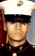 Marine LCpl. Cristian Vasquez, 20, of Coalinga, California. Died August 2, 2007, serving during Operation Iraqi Freedom. Assigned to1st Light Armored Reconnaissance Battalion, 1st Marine Division, I Marine Expeditionary Force, Camp Pendleton, California. Died of wounds sustained when hit by enemy small-arms fire during combat operations in Qaim, Anbar Province, Iraq.