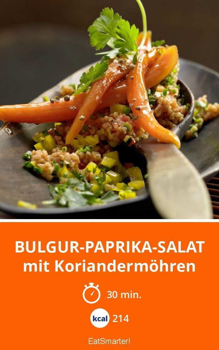 Bulgur-Paprika-Salat - mit Koriandermöhren - smarter - Kalorien: 214 Kcal - Zeit: 30 Min. | eatsmarter.de
