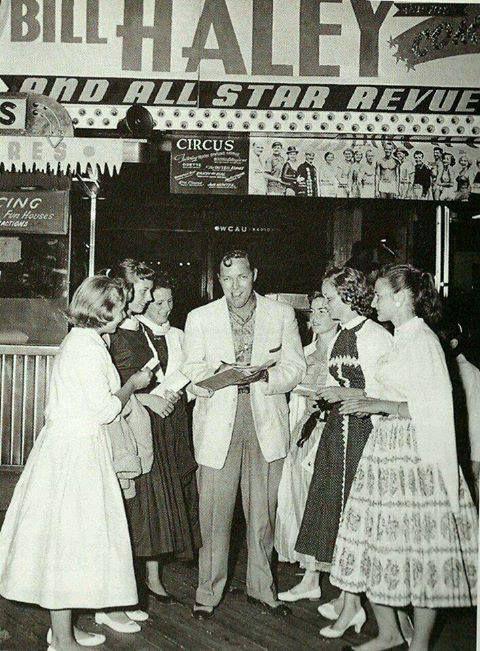 Rare picture of Bill Haley taken in Texas around 1956