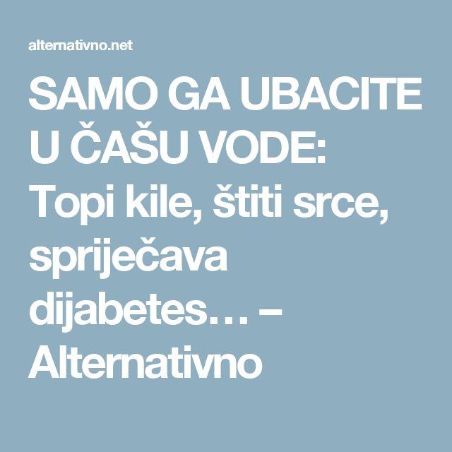 SAMO GA UBACITE U ČAŠU VODE: Topi kile, štiti srce, spriječava dijabetes… – Alternativno