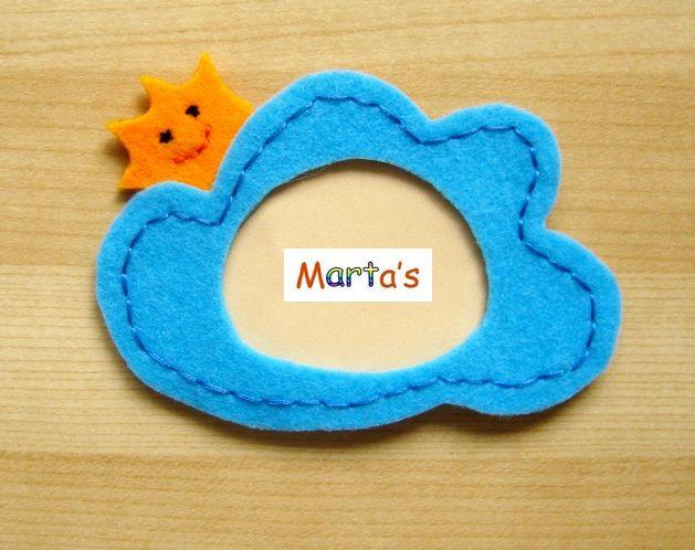 felt photo frame as fridge magnet
