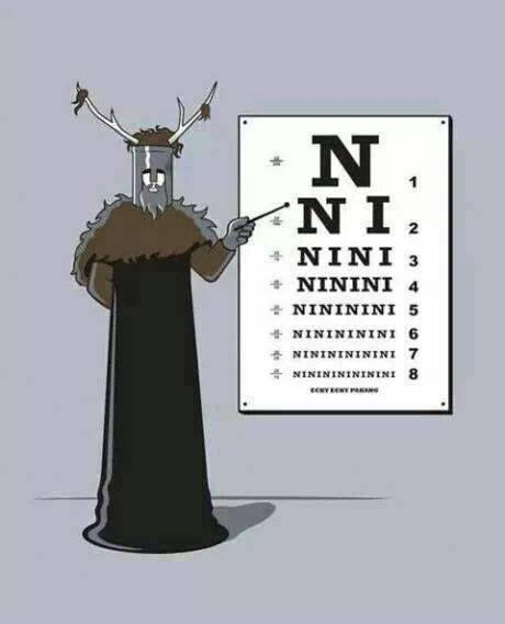 """Exame oftalmológico dos cavaleiros que dizem """"ni""""!"""