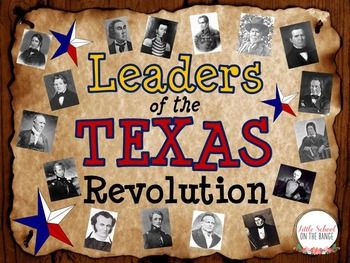 Looking for a way to familiarize your students with the leaders of the Texas Revolution? This unit is a fantastic way to introduce the individuals that were important to the founding of Texas as a republic and state!The unit contains: Fact cards for the following:o William B.