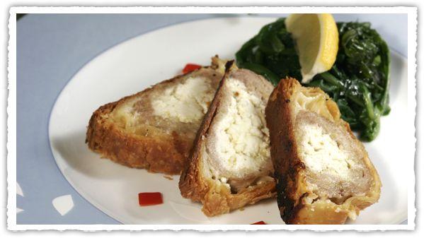 κρεατόπιτα  σε σφολιάτα, με χοιρινό και μυρωδικά, ελληνική γεύση, #Pillsbury #pita #pie