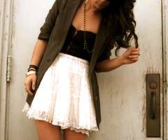 pretty and edgy: Full Skirts, Style, Cute Outfits, Jackets, Black White, Summer Outfits, Blazers, The Dresses, White Skirts