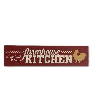 Look what I found on #zulily! 'Farmhouse Kitchen' Indoor/Outdoor Wall Art #zulilyfinds