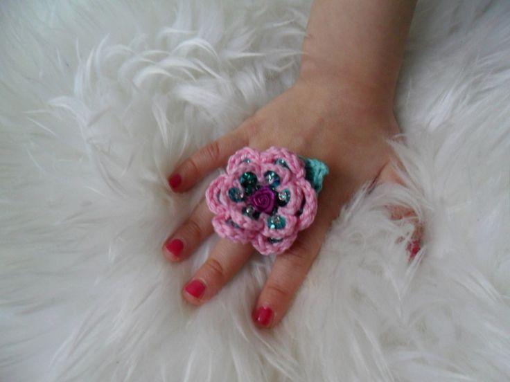 Ring+für+Prinzessin+mit+Pailletten+rosa+mint+von+MuMus+Zauberwerkstatt+auf+DaWanda.com