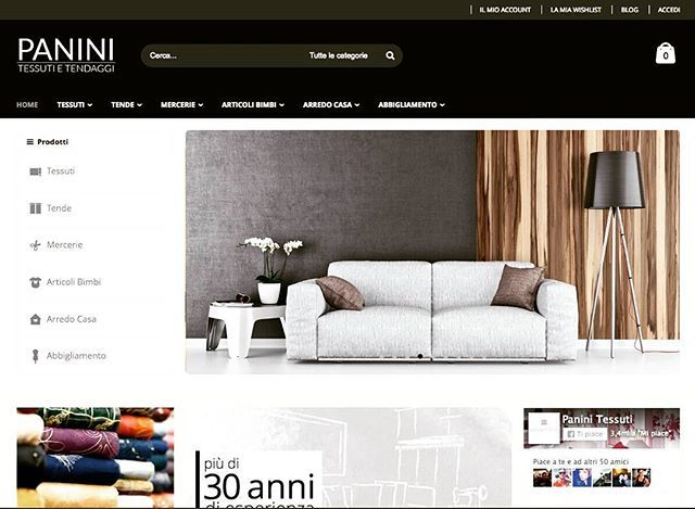 Homepage nuovo Sito/Shop Online Panini Tessuti  ----->  www.tessutietendaggipanini.it/