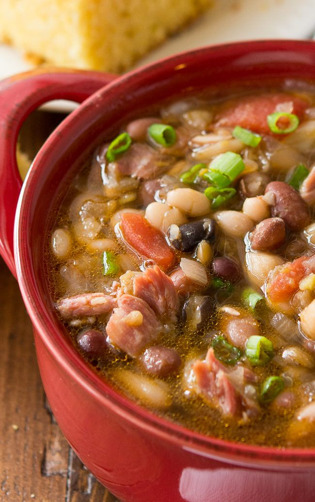 Crock Pot 15 Bean Soup Recipe - This easy bean soup recipe is the ultimate comfort food and a perfect family recipe for the slow cooker.
