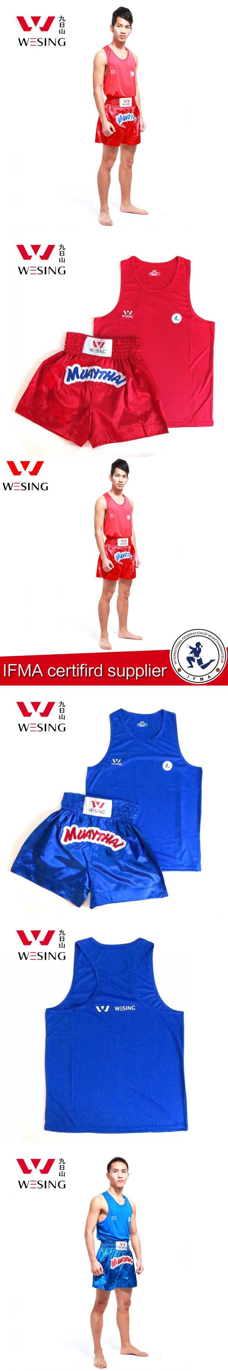Freeshipping High Quality Muay Thai/kungfu Shorts Muay Thai Shirt Muay Thai Uniform Short Muay Thai