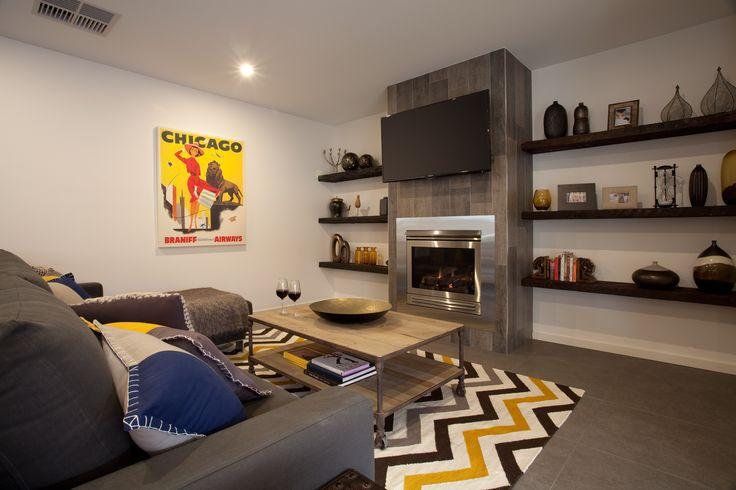 Modern rustic theme living room