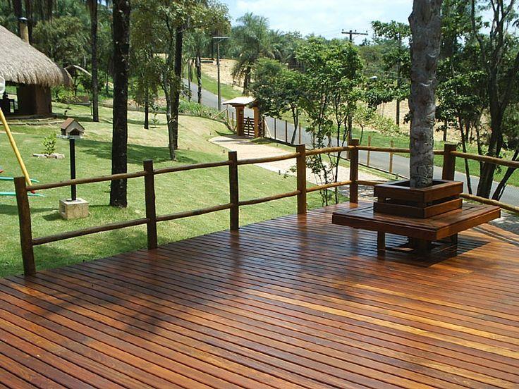 Cerca, Portão e Guarda-corpo de madeira - COBRIRE Construções Rústicas