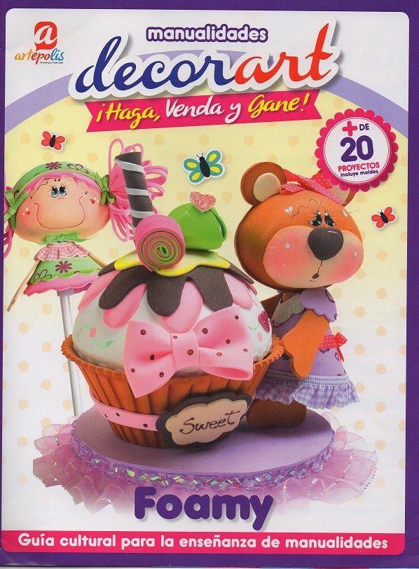Revistas de Foamy gratis: Revista Decorart - Muñecos en foamy