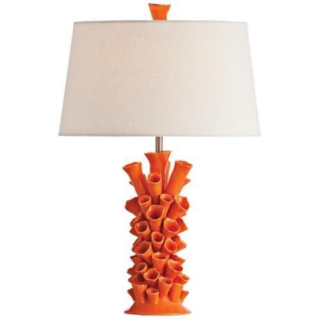 Arteriors Home Cassidy Orange Porcelain Table Lamp http://www.lampsplus.com/products/arteriors-home-cassidy-orange-porcelain-table-lamp__v5412.html#