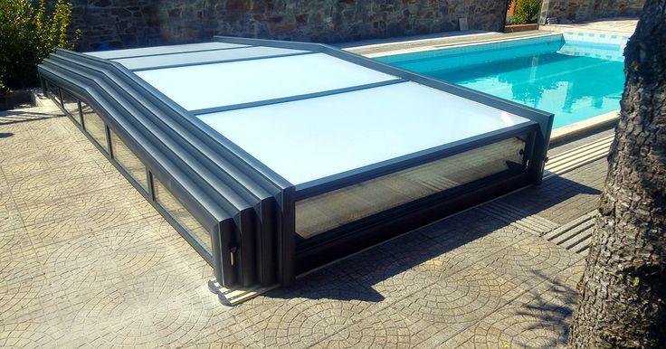 Abri bas de piscine en verre securit - Gamme Premium