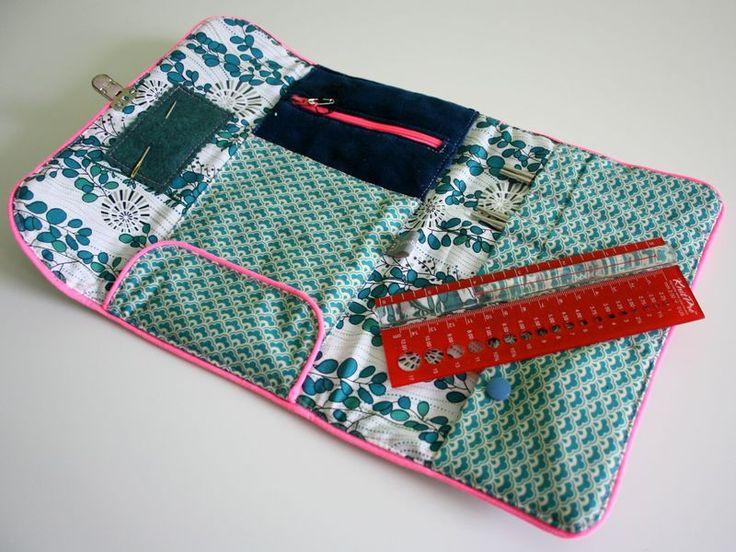 Pochette aiguilles circulaires tutos sacs pochettes for Trousse de couture en cuir