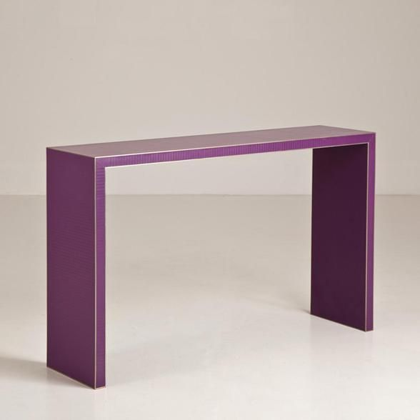 A Small Purple Lacquer Console Table by Talisman 2 side tables for couch