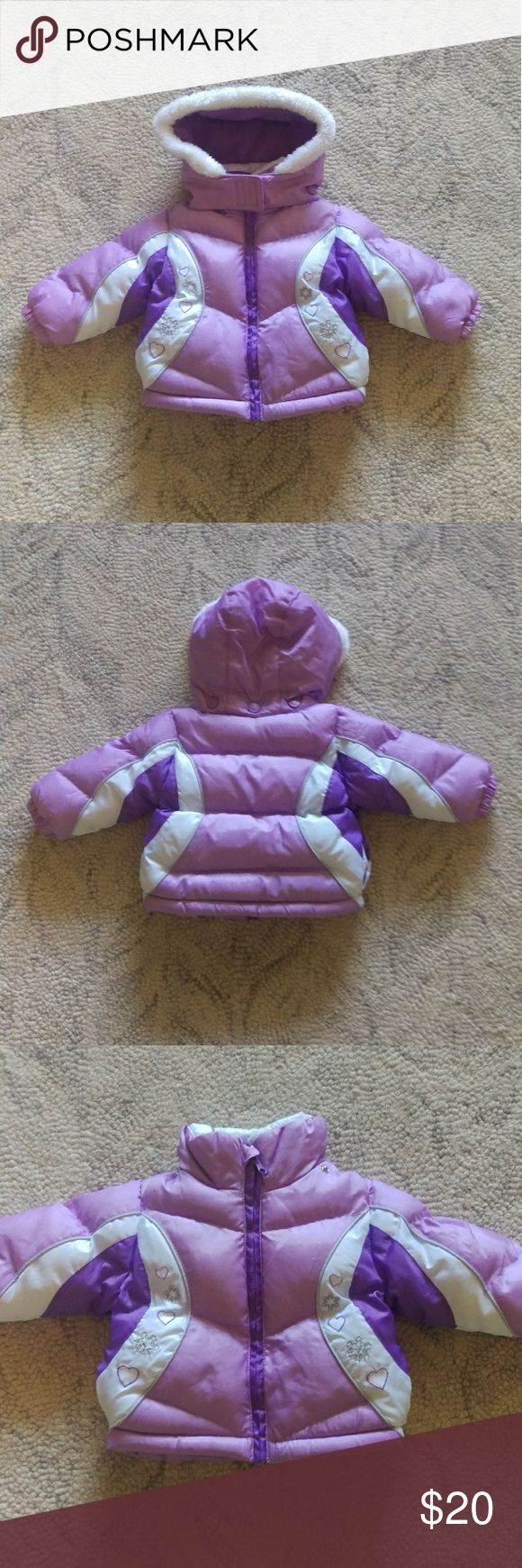 London Fog Baby Puffer Coat Purple London Fog baby fleece lined puffer coat. The hood is detachable and the inside of the jacket and hood are lined with fleece. VERY gently used. London Fog Jackets & Coats Puffers