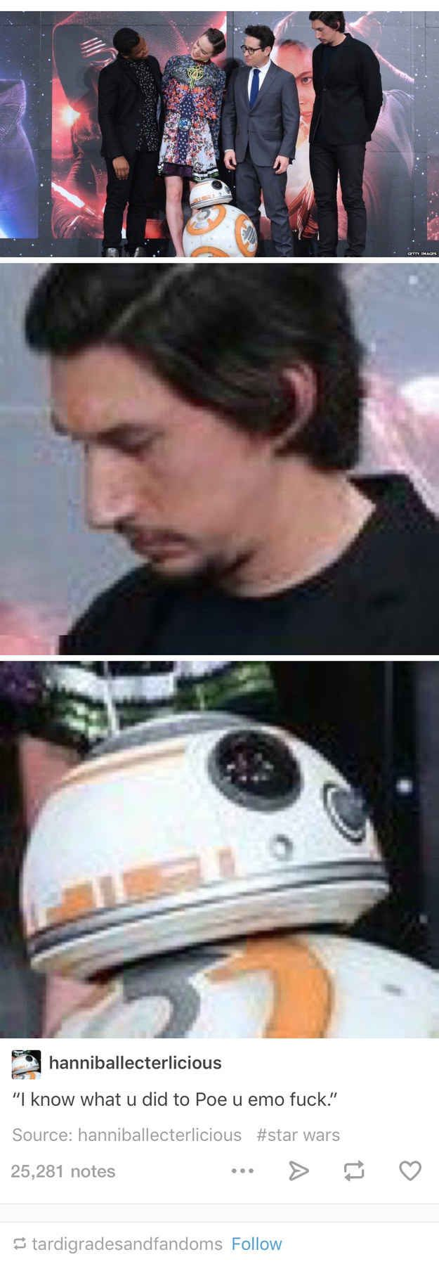 When they noticed BB-8 was keeping an eye out.