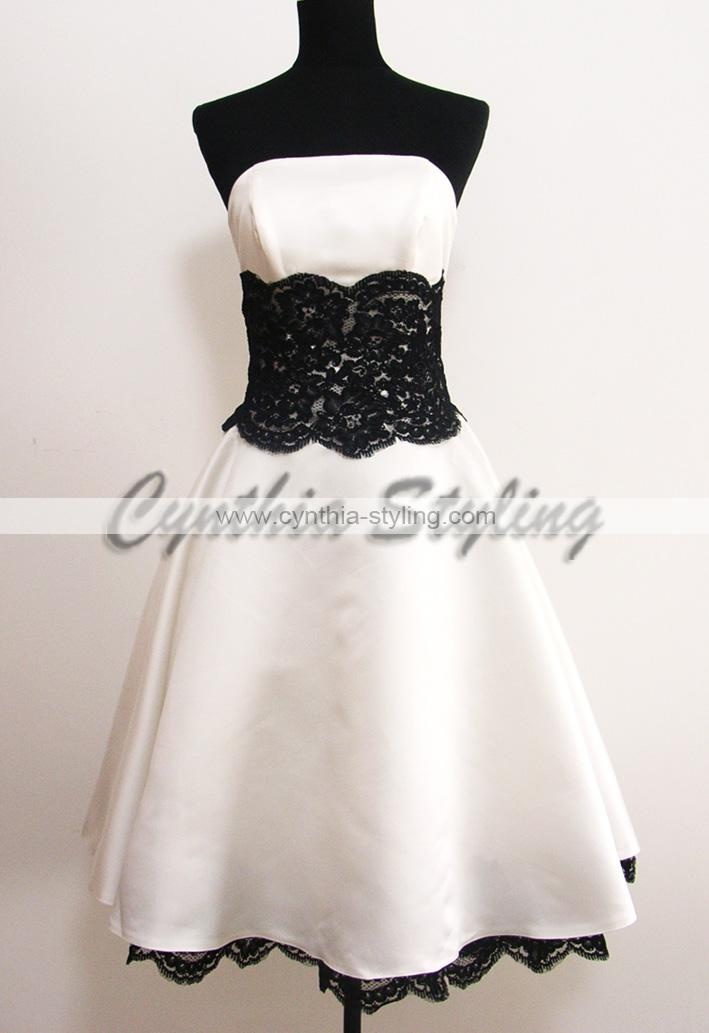 Love The Black White Lace Image Detail For Short Wedding Dressesprom