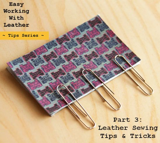 Leather Sewing Tips and Tricks   World of PINEAPPLE