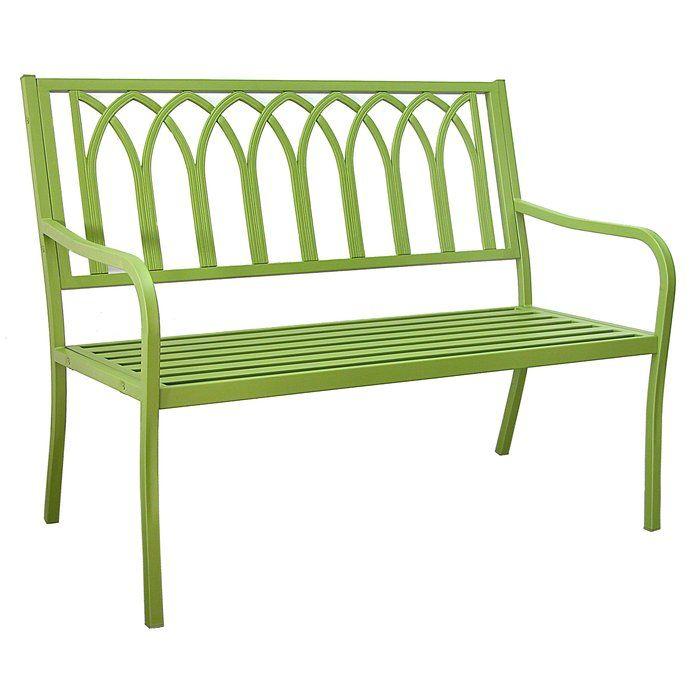 Blankenship Steel Garden Bench Outdoor Furniture Outdoor Bench