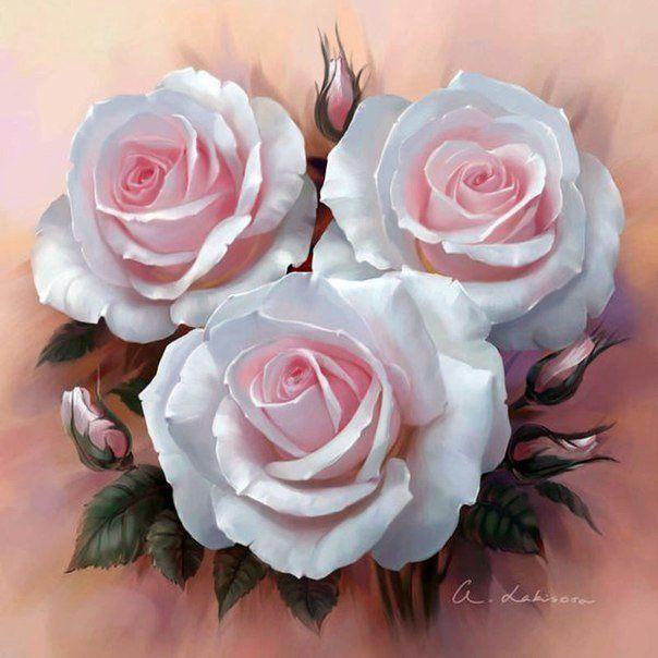 Сочные розы от художника Анны Лакисовой... фото #4