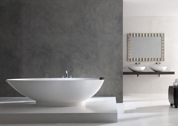 Dicas de decoracao de banheiro com banheira moderna Napoli