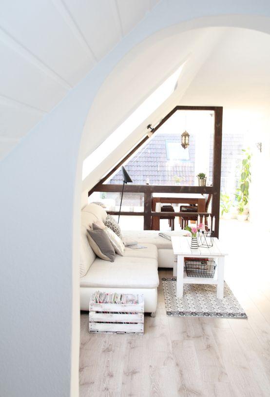 Dachgeschosswohnung einrichten ideen wohnen pinterest for Katalog wohnen und einrichten