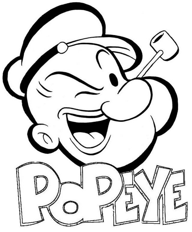8 Fun Popeye Coloring Pages For Children In 2020 Cartoon