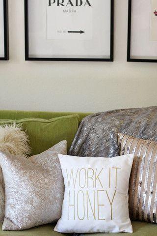 Work It Honey Pillow & 81 best Trendy Pillows images on Pinterest | Pillow talk Throw ... pillowsntoast.com