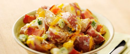 Baked Potato Salad with Aged Cheddar Cheese | Wisconsin Milk Marketing Board
