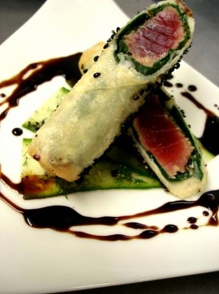 HangoverChef's Food: Rare tuna string roll with marinated cucumber and ...
