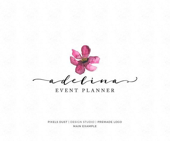 Floral Logo Premade Logo Design Magnolia Logo by PixelsDustDesign