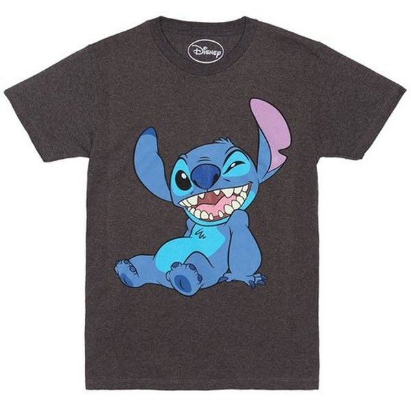 Disney Lilo and Stitch Winky Wink T-shirt ($20) ❤ liked on Polyvore featuring tops, t-shirts, shirts, disney, tees, tee-shirt, disney shirts, disney t shirts and t shirt