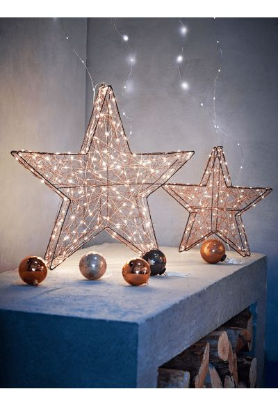 NEW Standing Copper Wire Stars - Christmas Accessories - Christmas