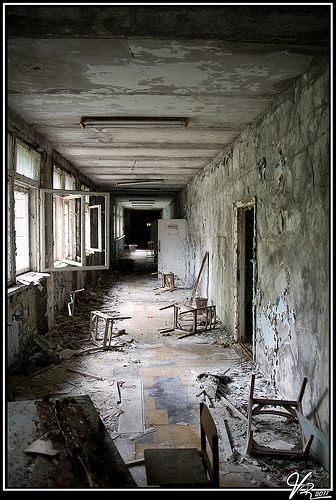 Abandoned schoolhouse in Pripyat near thevChernobyl Nuclear Power Plant...after the Chernobyl disaster, Pripyat was evacuated in two days.