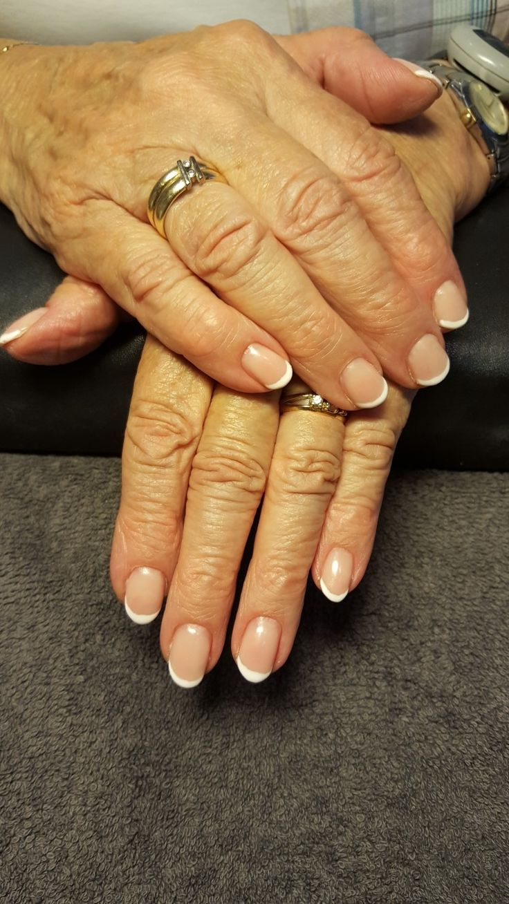 Acrylic nails in french manicure