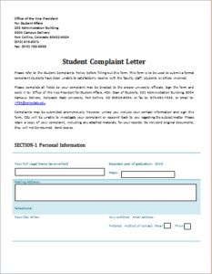 Complaint Letter About Overbooked Flight Download At HttpWww