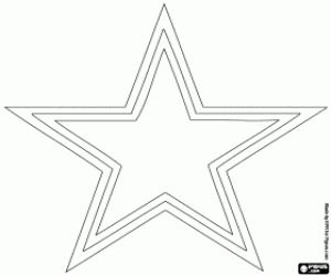Coloriage Logo de Dallas Cowboys